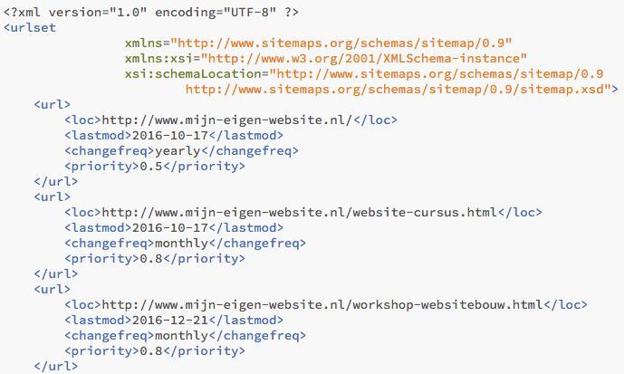 xml-sitemap-voorbeeld